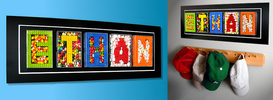 5 Letter Artwork Using Real LEGO And Candy