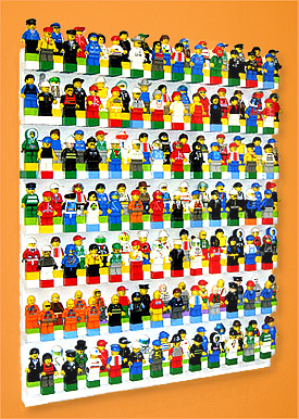 BRICK RACK Lego Minifigure Display | Wall Display Case for your LEGO